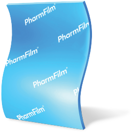 A PharmFilm® medication arranged vertically