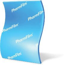 A PharmFilm® medication arranged vertically